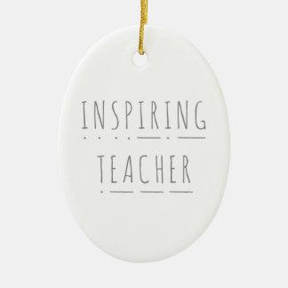 Inspiring Teacher Ceramic Christmas Decoration