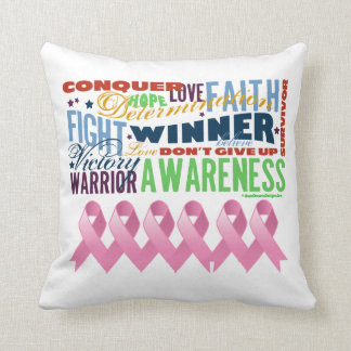 Inspiring Words - Breast Cancer Awareness Throw Cushion