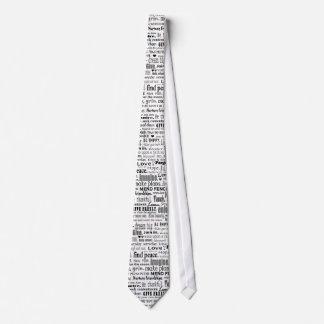 inspiring words tie collage