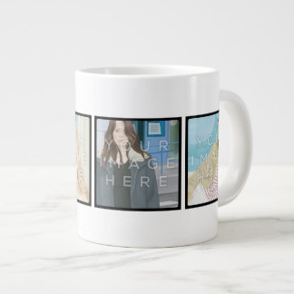 Instagram 4-Photo Personalized Custom Jumbo Mug