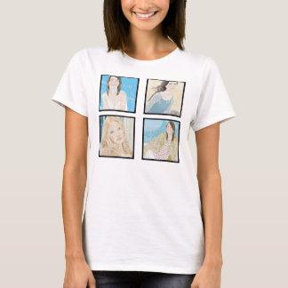 Instagram 4 Photo Women's Custom Shirt Design