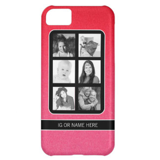 Instagram 6 Selfies Photos Collage Case For iPhone 5C