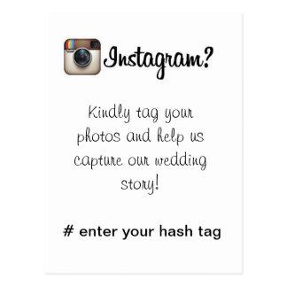Instagram Card Postcard