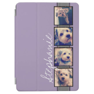 Instagram Collage - 4 photos Orchid background iPad Air Cover