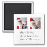 instagram funny photo christmas square magnet