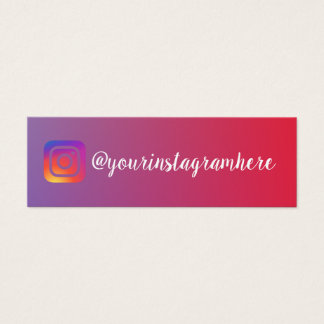 instagram gradient trendy modern business card