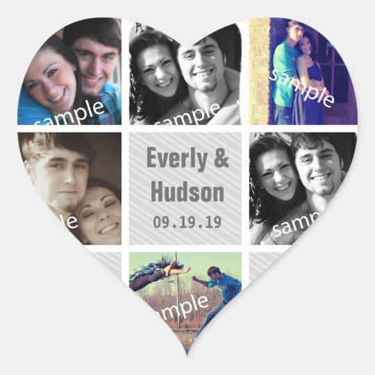Instagram Heart Shape Wedding Photo Stickers