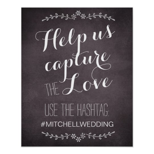 Instagram help us capture the love hashtag wedding