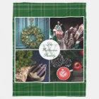 Instagram Hygge Christmas Personalised Photo Grid Fleece Blanket