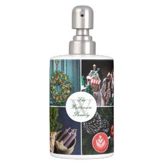 Instagram Hygge Christmas Seasonal Photo Collage Soap Dispenser And Toothbrush Holder