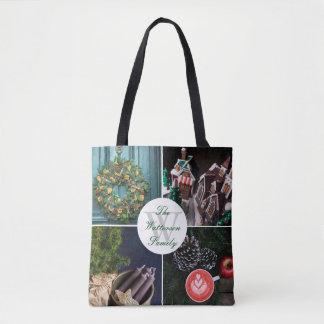 Instagram Hygge Christmas Seasonal Photo Collage Tote Bag
