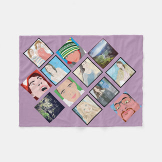 Instagram Mosaic Photo Lt Violet Fleece Blanket