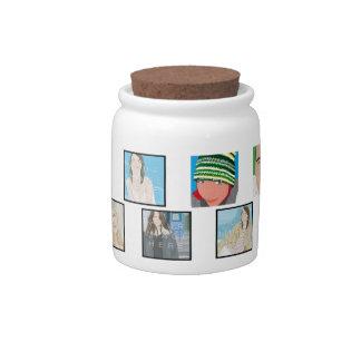 Instagram Mosaic Photo Personali Candy Jar Designs