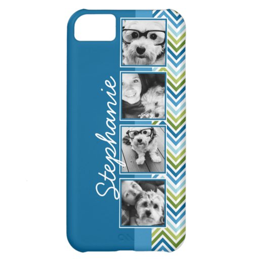 Instagram Photo Collage Colorful Chevrons iPhone 5C Cases