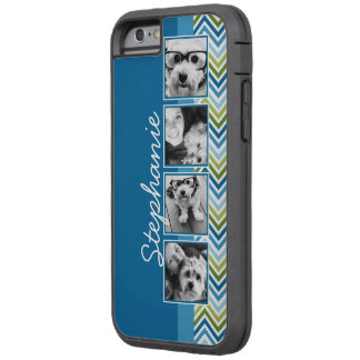 Instagram Photo Collage Colorful Chevrons Tough Xtreme iPhone 6 Case