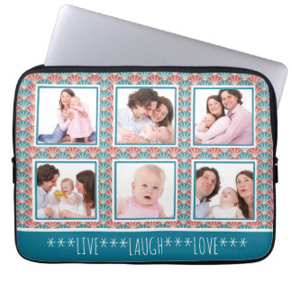 Instagram Photo Collage Decorative Pattern Laptop Sleeve