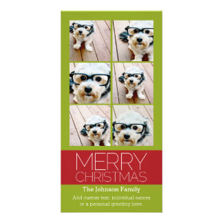 Instagram Photo Collage Merry Christmas Card