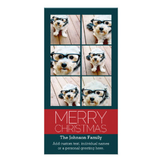 Instagram Photo Collage Merry Christmas Picture Card
