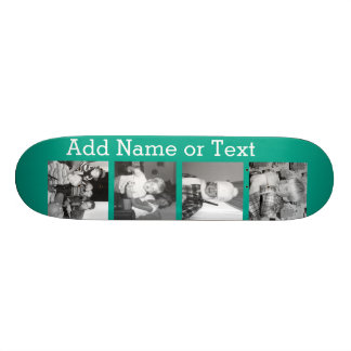 Instagram Photo Collage with 4 pictures - emerald 21.6 Cm Skateboard Deck