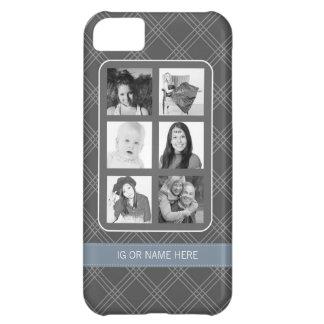 Instagram Photo Collage with 6 Square Photos iPhone 5C Case