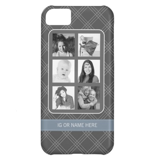 Instagram Photo Collage with 6 Square Photos iPhone 5C Cases