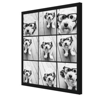 Instagram Photo Collage with 9 photos Canvas Print