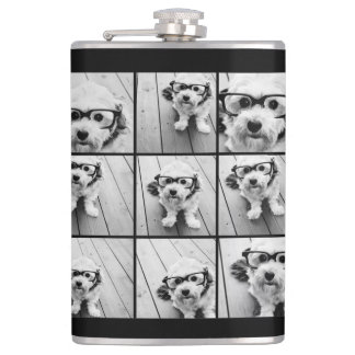 Instagram Photo Collage with 9 photos Hip Flask