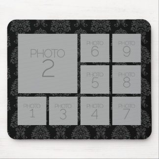 Instagram Photo Collage with 9 photos Mouse Pad