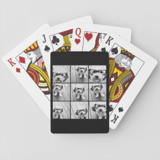Instagram Photo Collage with 9 photos Poker Deck