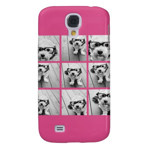 Instagram Photo Collage with 9 square photos Samsung Galaxy S4 Covers