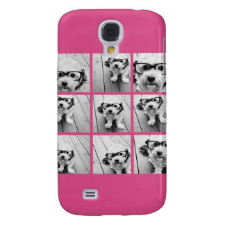 Instagram Photo Collage with 9 square photos Galaxy S4 Case