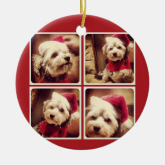 Instagram Photo Collage with Merry Christmas Christmas Ornament