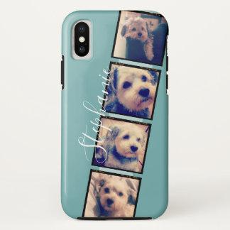 Instagram Photo Display - 4 photos film strip iPhone X Case