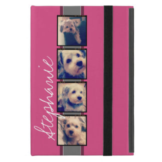 Instagram Photo Display - 4 photos pink name Case For iPad Mini