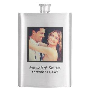 Instagram Photo Personalised Wedding Keepsake Hip Flask