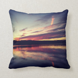 Instagram Pillow: Sunset on a Lake Cushion