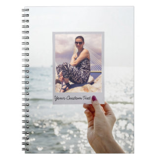 Instagram Style Photo Frame Ocean Your Photo Notebook