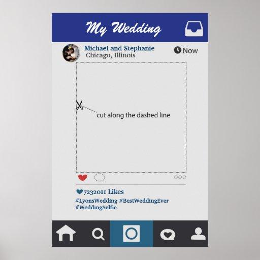 Instagram Style Wedding Photobooth Frame Prop Poster