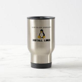 Install Linux Stainless Steel Travel Mug