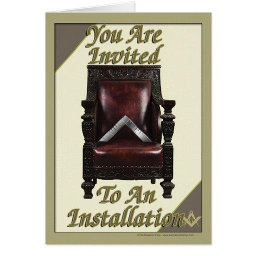 Installation Invitation Cards