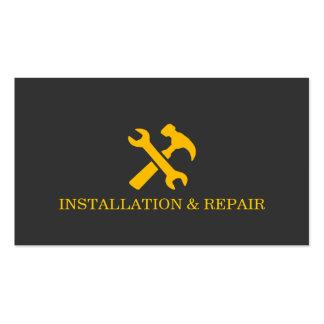 Installation Repair Maintenance Construction Pack Of Standard Business Cards