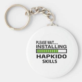 Installing Hapkido Skills Basic Round Button Key Ring