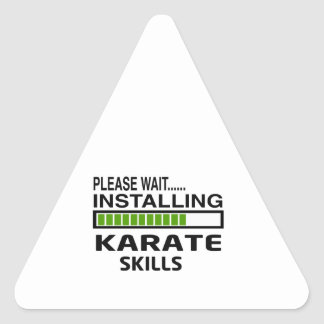 Installing Karate Skills Triangle Sticker