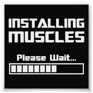 Installing Muscles Please Wait Loading Bar Photograph