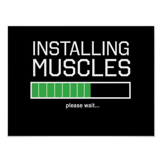 Installing Muscles Poster