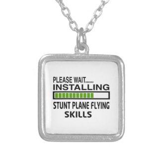 Installing Stunt Plane Flying Skills Necklaces