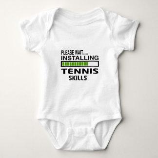 Installing Tennis Skills Baby Bodysuit