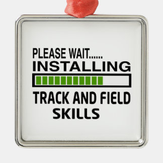 Installing Track and Field Skills Silver-Colored Square Decoration