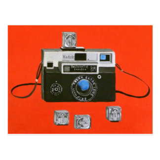 Instamatic Camera with Flashcubes Postcard