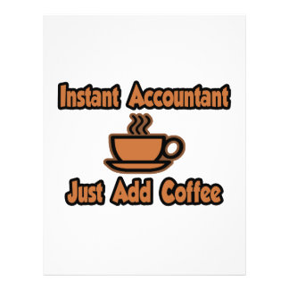 Instant Accountant Just Add Coffee Flyers